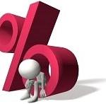 8220610-un-prestatario-3d-es-herido-en-un-por-ciento-de-la-tasa-de-inter-s-sobre-la-deuda-personal-o-de-la-i